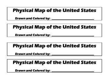 Geography:  Make-Your-Own US Physical Map Project