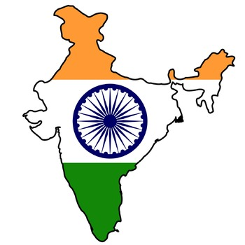 Geography/Map India Internet Assignment Middle or High School