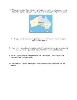 Geography Map Making Exercise Australia Map making Project Montessori Inspired