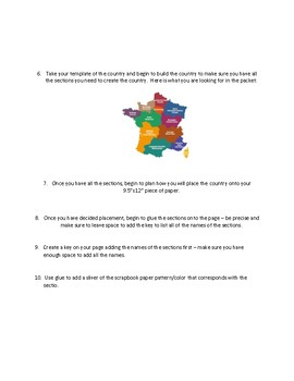 Geography Map Making Exercise France Map making Project Montessori Inspired
