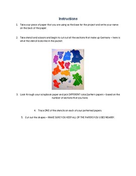 Geography Map Making Exercise Germany Map making Project Montessori Inspired