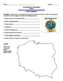 Geography/Map Poland Internet Assignment Middle or High School