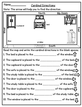 Geography: Map Skill Cardinal Directions Worksheets: on atlantic provinces map, symbols map, atlas map, scale map, cardinal schedule, distortion map, equator map, east map, north map, key map, topography map, plain map, coordinates map, map map, absolute location map, elevation map, west map, parallel map, locator map, relative location map,