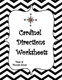 Geography: Map Skill Cardinal Directions Worksheets: