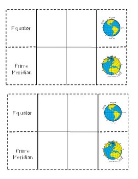 Geography: Map Skills Foldables (Interactive Notebook)