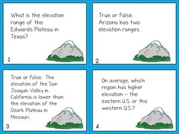 140 Geography Task Cards Bundle - All Seven Continents!