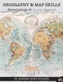 Geography & Map Skills Terminology & Cursive Copywork