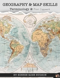 Geography & Map Skills Terminology & Print Copywork