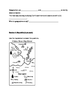 Geography Map Skills Test