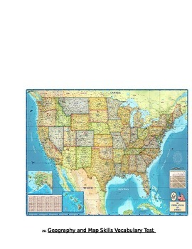 Geography Map Skills Test Tiered