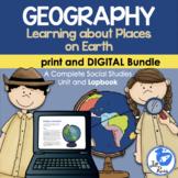 Geography Map Skills Unit Lapbook Print & Digital Distance