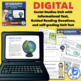 Geography Map Skills Unit & Lapbook with informational text, test, & more!}
