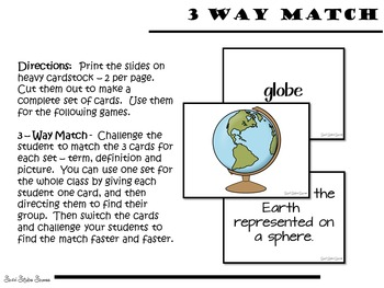 Geography Map Terms Games