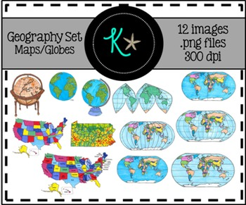 Geography Clip Art - Maps, Globes, Earth