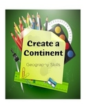 Geography Mapping Activity - Create a Continent