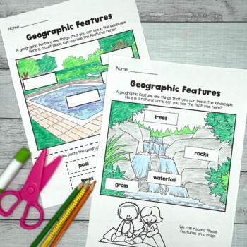 Map the classroom Geography mapping activity prepositional language direction