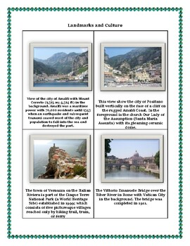 Italy Geography, Maps, Flag, Assessment on - Map Skills and Data Analysis