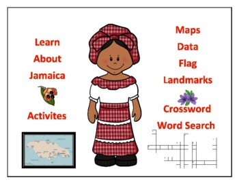 Geography, Maps, Flag, Assessment on Jamaica - Map Skills