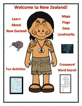New Zealand Geography, Maps, Flag, Assessment - Map Skills and Data Analysis