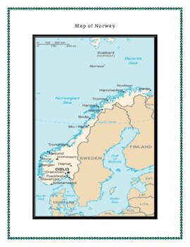 Norway Geography Maps, Flag, Assessment - Map Skills and Data Analysis