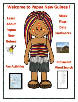 Papua New Guinea Geography Maps, Flag, Assessment Map Skills Data Analysis