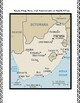 Geography Maps, Flag, Assessment on South Africa - Map Skills Data Analysis