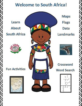 South Africa Geography Maps, Flag, Assessment - Map Skills and Data Analysis