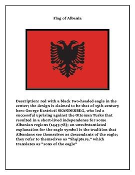 Geography Maps, Flag, Data, Assessment on Albania - Map Skills Data Analysis