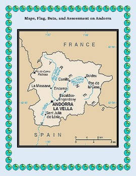 Andorra Geography Maps, Flag, Data, Assessment on - Map Skills Data Analysis