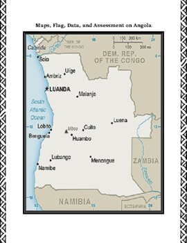 Angola Geography Maps, Flag, Data, Assessment - Map Skills Data Analysis