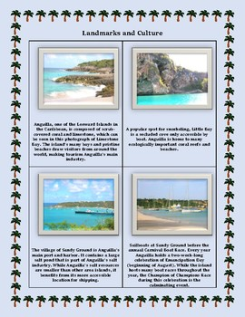 Geography Maps, Flag, Data, Assessment on Anguilla - Map Skills Data Analysis