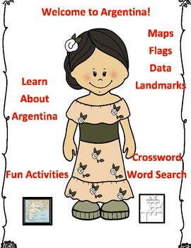 Geography Maps, Flag, Data, Assessment on Argentina  - Map Skills Data Analysis