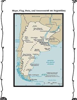 Argentina Geography Maps, Flag, Data, Assessment - Map Skills Data Analysis