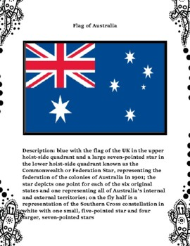 Geography Maps, Flag, Data, Assessment on Australia  - Map Skills Data Analysis
