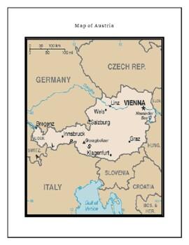 Austria Geography Maps, Flag, Data, Assessment - Map Skills Data Analysis