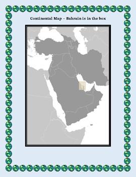 Geography Maps, Flag, Data, Assessment on Bahrain - Map Skills Data Analysis