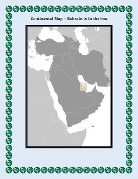 Bahrain Geography Maps, Flag, Data, and Assessment - Map Skills Data Analysis