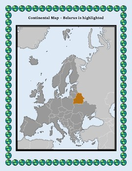 Belarus Geography Maps, Flag, Data, Assessment - Map Skills Data Analysis