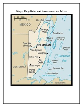 Belize Geography Maps, Flag, Data, Assessment - Map Skills and Data Analysis