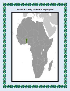 Benin Geography Maps, Flag, Data, Assessment - Map Skills Data Analysis