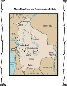 Bolivia Geography Maps, Flag, Data, Assessment - Map Skills Data Analysis