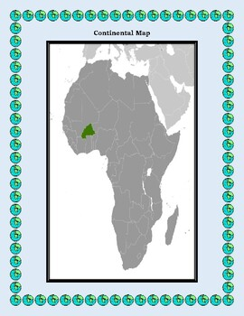 Geography Maps, Flag, Data, Assessment on Burkina Faso -Map Skills Data Analysis