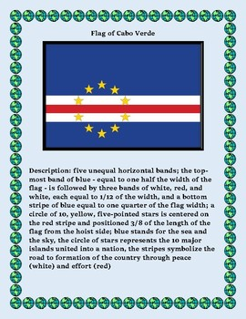 Cabo Verde Geography Maps, Flag, Data, Assessment - Map Skills and Data Analysis