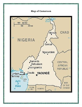 Cameroon Geography Maps, Flag, Data, Assessment - Map Skills Data Analysis