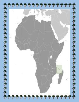Comoros Geography Maps, Flag, Data, Assessment - Map Skills Data Analysis
