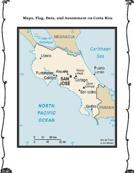 Costa Rica Geography Maps, Flag, Data, Assessment - Map Skills Data Analysis
