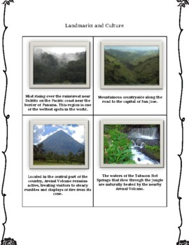 Costa Rica Geography Maps, Flag, Data, Assessment - Map Skills Data Analysis