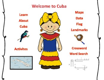 Geography Maps, Flag, Data, Assessment on Cuba  - Map Skills Data Analysis