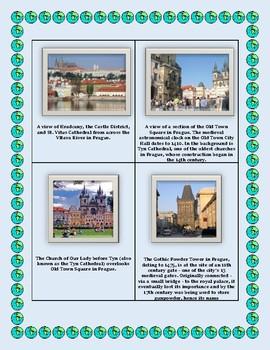 Geography Maps, Flag, Data, Assessment on Czechia  - Map Skills Data Analysis