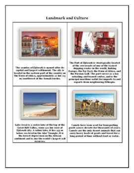 Djibouti Geography Maps, Flag, Data, Assessment - Map Skills and Data Analysis